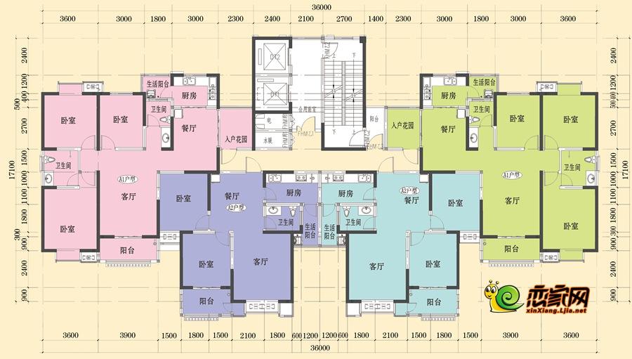 4#楼平面图