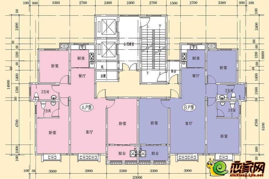 7#楼平面图
