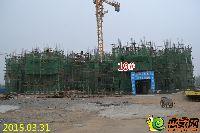 忆通壹世界19#楼正进行3层的墙柱钢筋建设
