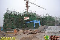 忆通壹世界18#楼在建3层的墙柱钢筋