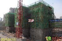忆通壹世界21#楼正在绑第三层墙柱钢筋