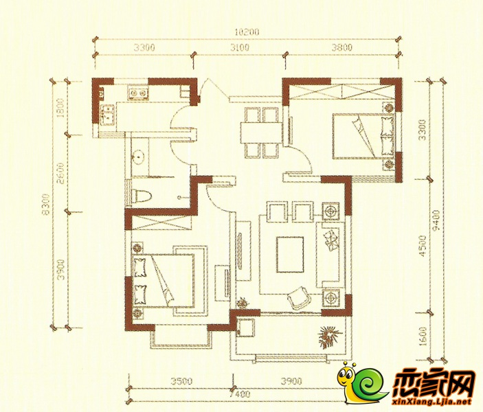 蓝葆湾B户型图