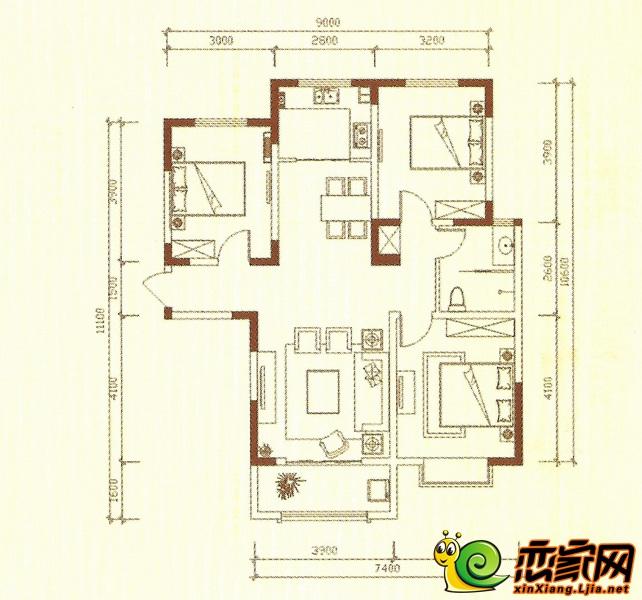蓝葆湾C户型图