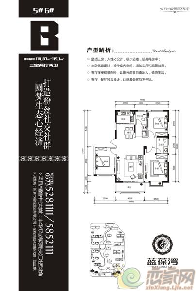 蓝葆湾5#、6#B户型