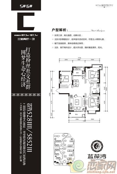 蓝葆湾5#、6#C户型