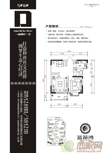 蓝葆湾5#、6#D户型
