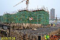 新乡林溪湾1#楼建至三层墙柱模板