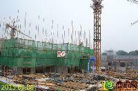 新乡林溪湾5#楼刚开始建第三层墙柱钢筋