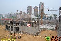 新乡林溪湾3#楼刚浇筑模板