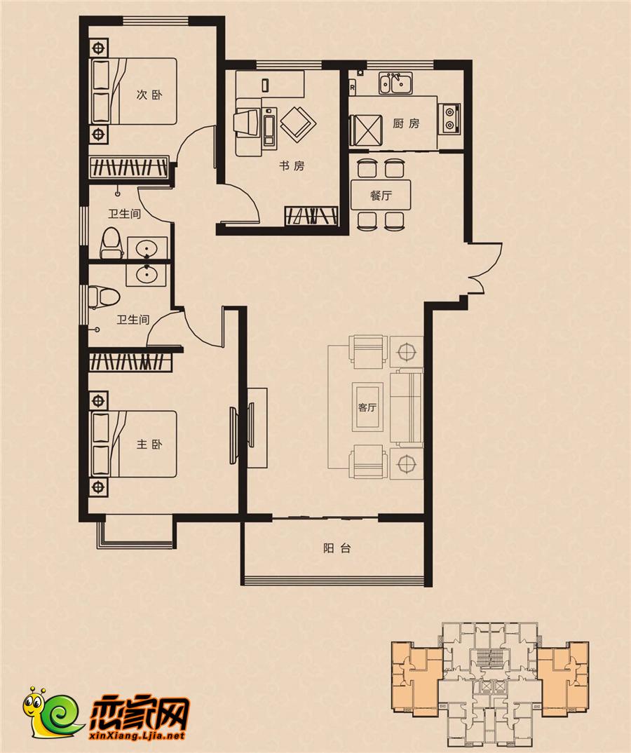 林溪湾6#楼 B户型