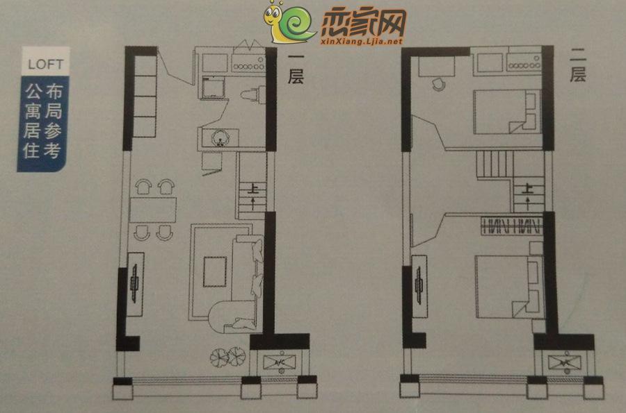 润华金地广场公寓·居住用布局图