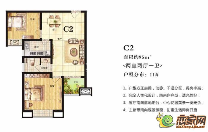 高晟·福润城11#·C2户型图