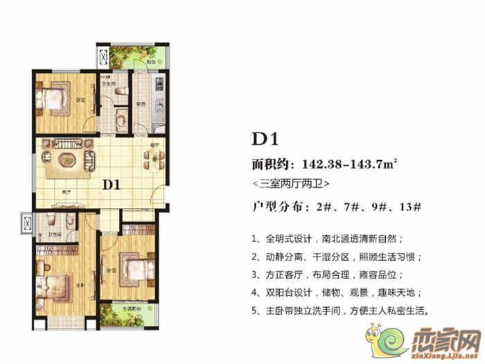 高晟·福润城2#、7#、9#、13#·D1户型图
