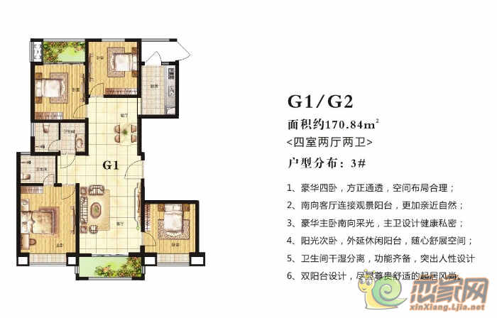 高晟·福润城3#·G1/G2户型图