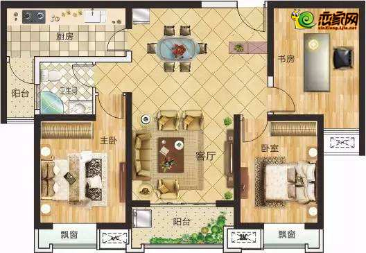 3#楼G户型