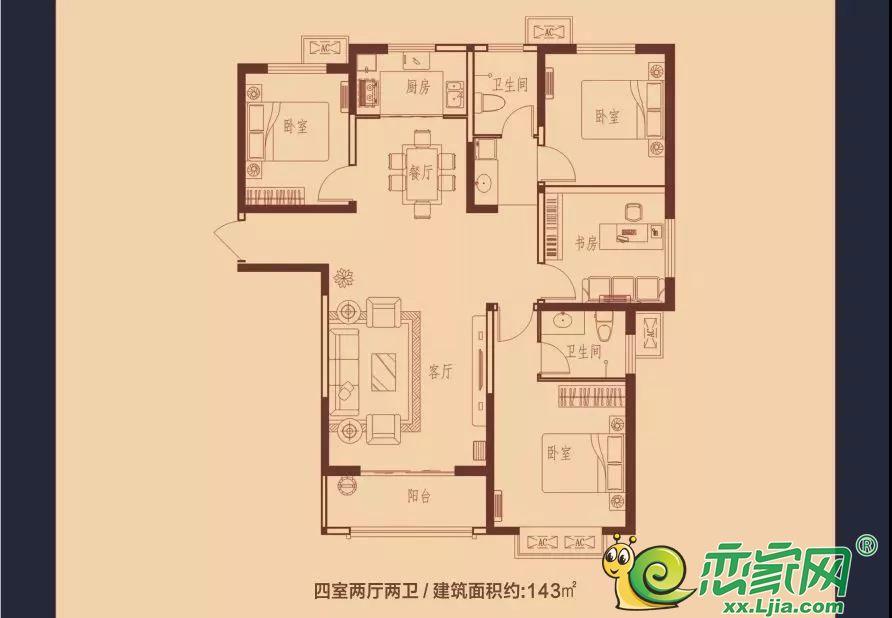 蓝葆湾55#、56#、61#D户型