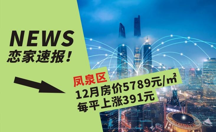 凤泉区12月房价5789元/㎡ 较上月每平上涨391元