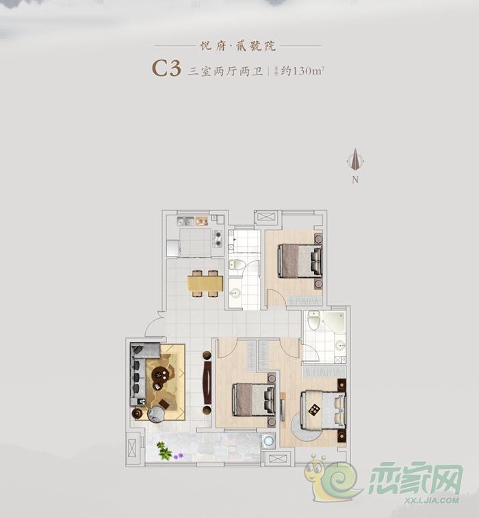 国悦城二期C3户型