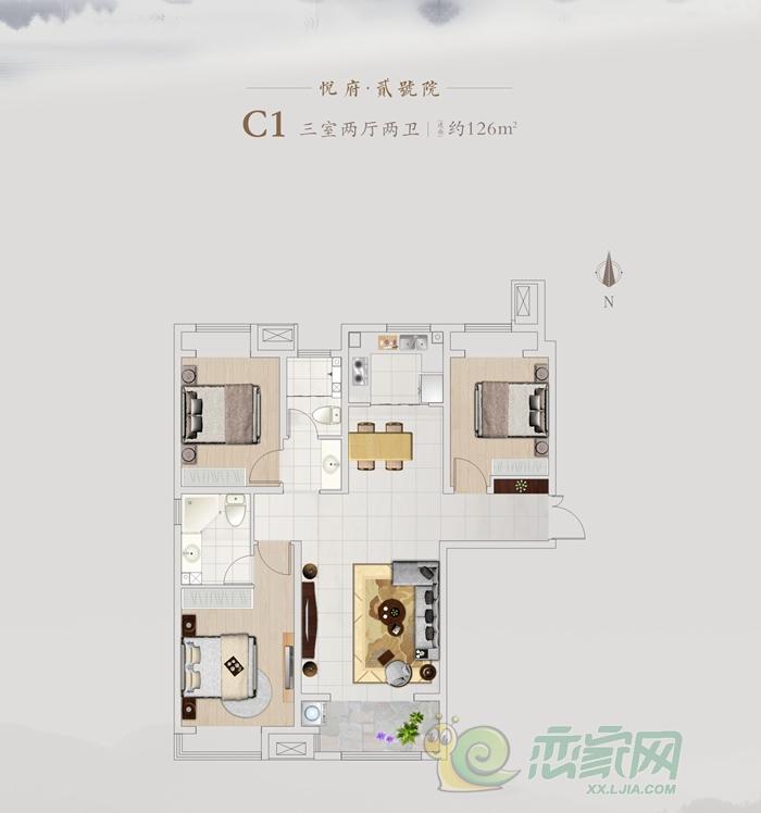 国悦城二期C1户型