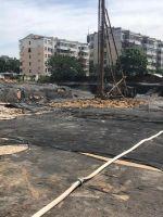 2019.6.3龙湖景庭5#、6#楼开工,现场桩机已安装到位