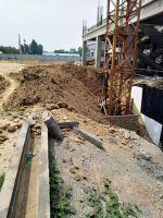 2019.6.17大象城进行土方回填及楼体内部墙体砌筑