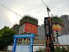 2019.6.17润华UCC工程进度:公寓建至16层,LOFT建至10层