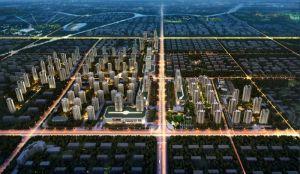 国悦城整体鸟瞰夜景