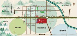 三里城邦交通图、区位图