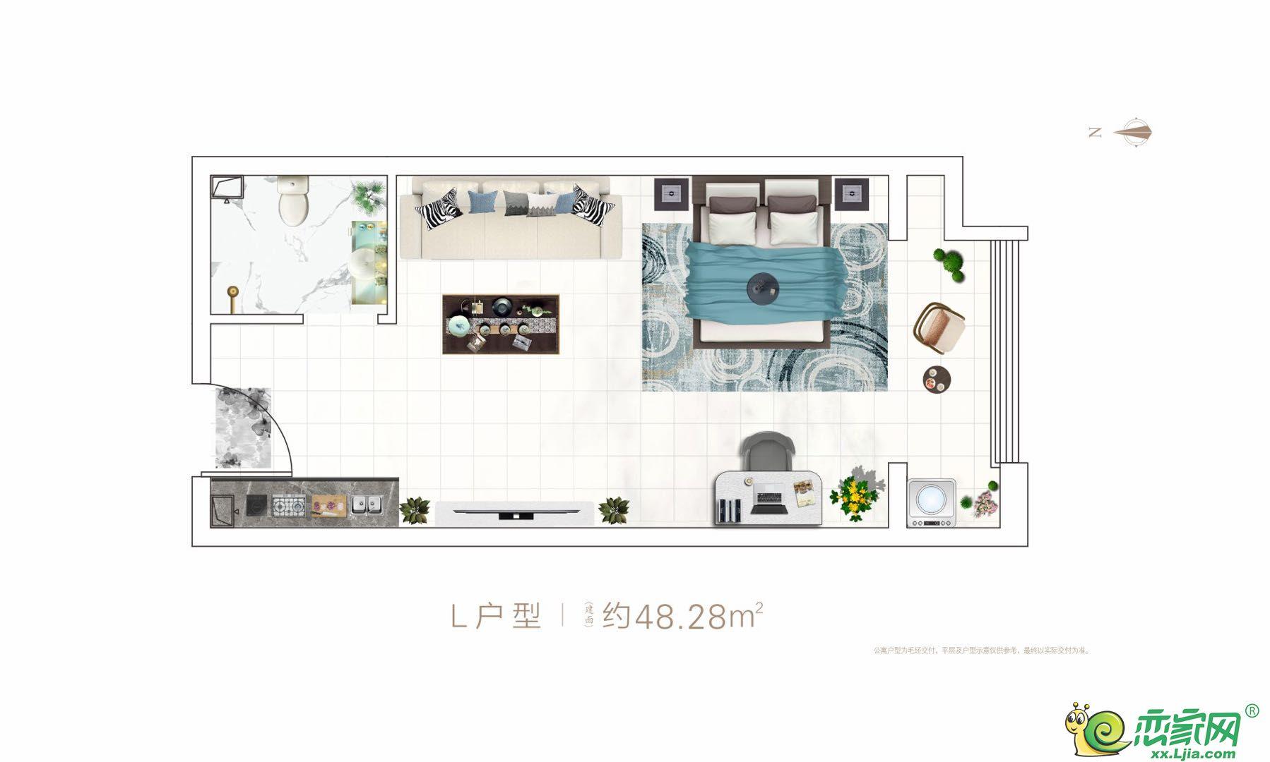 国悦城·金寓L户型