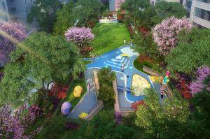 国悦城三期中心花园景观